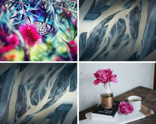 Collage van inspirerende natuurelementen